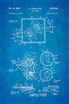 Ian Monk - Glass Rock Em Sock Em Robots Toy Patent Art 2 1966 Blueprint