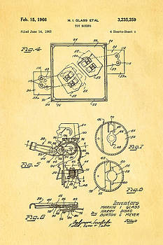 Ian Monk - Glass Rock Em Sock Em Robots Toy Patent Art 2 1966