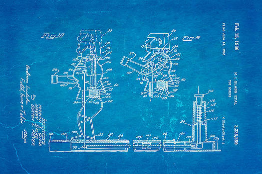 Ian Monk - Glass Rock Em Sock Em Robots Toy Patent Art 3 1966 Blueprint