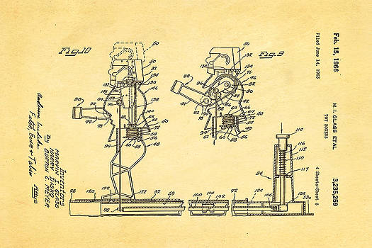 Ian Monk - Glass Rock Em Sock Em Robots Toy Patent Art 3 1966