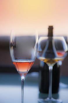 Glasses And Bottle by Martin Joyful