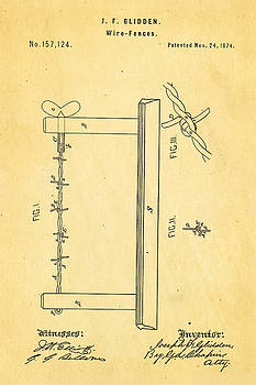 Ian Monk - Glidden Barbed Wire Patent Art 1874