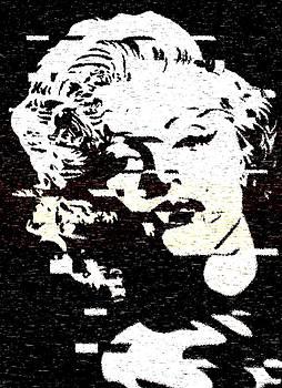 Glitch Art Marylin Monroe by Georgeta Blanaru