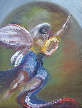 Glory With Archangel Gabriel by Patricia Kimsey Bollinger