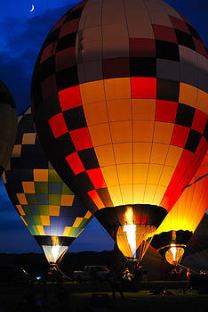 Glowing Ballons and a Crescent Moon by Amanda Lomonaco