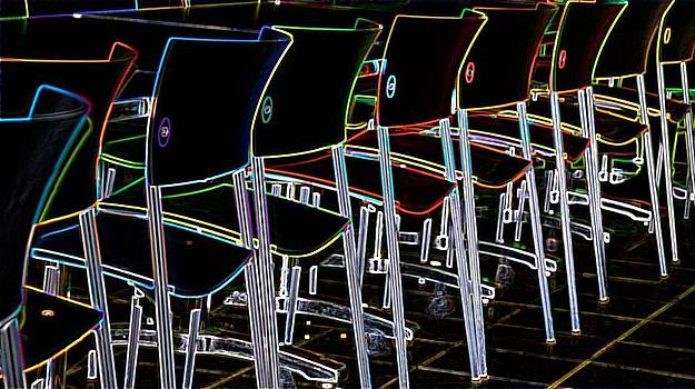 Glowing Chairs by Adrianne Wilkinson