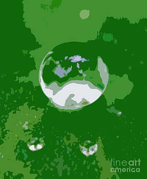 Glowing globe 2 by Kenroy Rhoden