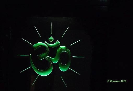 Glowing Om by Hemu Aggarwal
