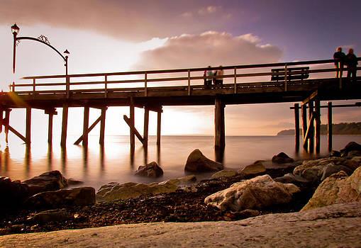 Glowing Pier by Eva Kondzialkiewicz