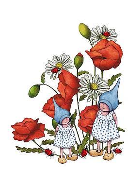 Joyce Geleynse - Gnome Children With Flowers