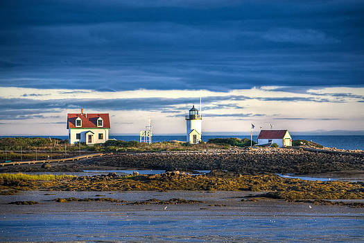 Goat Island Lighthouse Kennebunkport Maine  by James Wellman