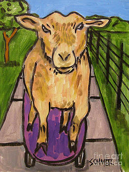 Goat Skateboarding by Jay  Schmetz