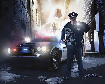 God has my Back. Officer by Danny Hahlbohm