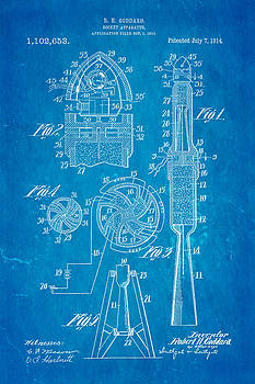 Ian Monk - Goddard Rocket Apparatus Patent Art 1914 Blueprint
