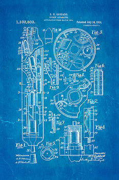 Ian Monk - Goddard Rocket Patent Art 1914 Blueprint