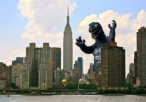 Godzilla and the Empire State Building by William Patrick