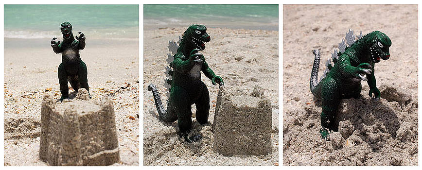 Godzilla Versus the Sand Castle by William Patrick