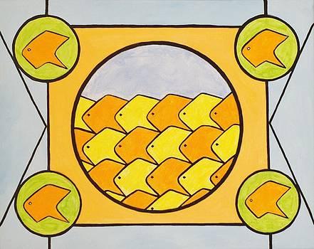 Goie Goldfish School by Goie Goie FunArt