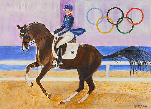 Going for Gold - painting by Veronica Rickard