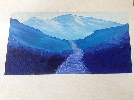 Going thru the blues by Teresa Hirst