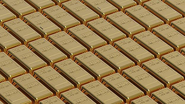 Gold bullion by Borislav Marinic