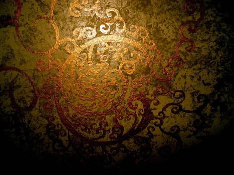 Gold Circle Scrolls by Kurler Warner