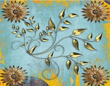 Gold Leaf Tapestry by Anke Wheeler