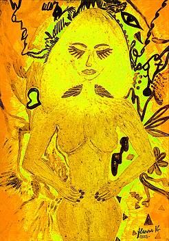 Gold MushroomLady by Hanna Khash