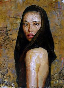 Gold-n-black Lady by Kartashov Andrey