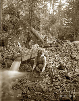 California Views Mr Pat Hathaway Archives - Gold Prospector  panning for Gold California Circa 1900