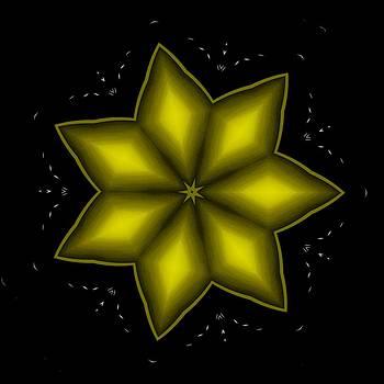 Marcela Bennett - Gold Yellow Christmas Star