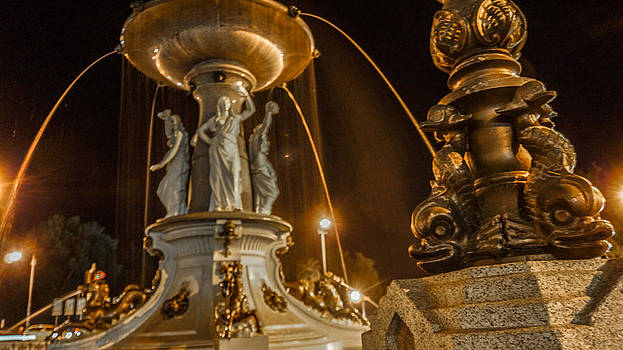 Golden Alexandra Fountain by Steven Jodoin
