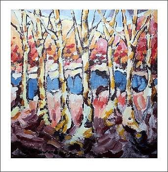 Golden Birch by Jean Gauvreau