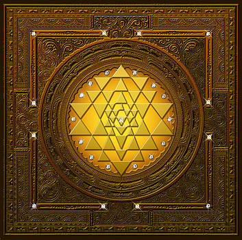 Golden-briliant Sri Yantra by Lila Shravani