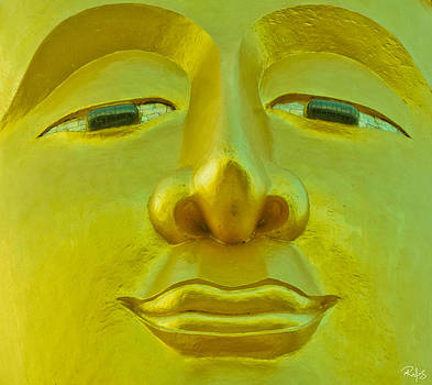 Golden Buddha Smile by Allan Rufus