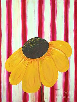 Barbara Griffin - Golden Daisy with Candycane Stripes