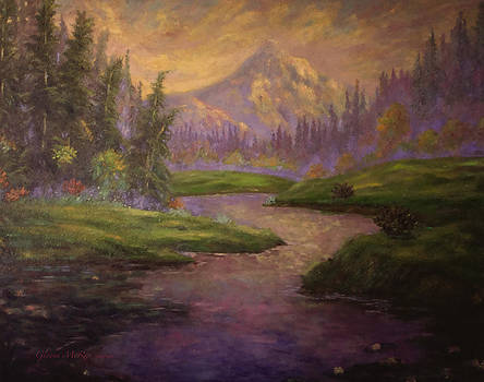 Glenna McRae - Golden Dawn at Mt. Hood