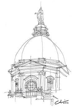 Golden Dome Sketch by Calvin Durham