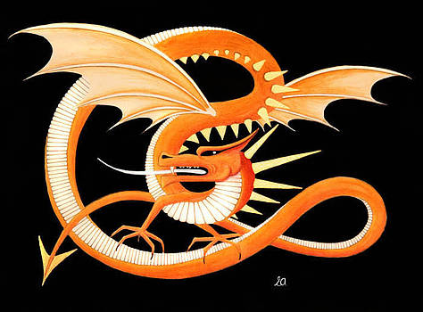 Golden Dragon  by Erla Alberts
