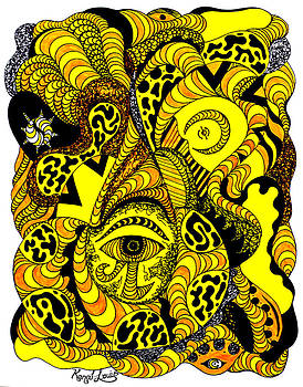Golden Eye In Wave Of Thoughts by Kenal Louis