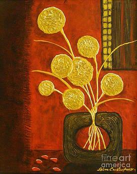 Golden Flowers by Elena  Constantinescu