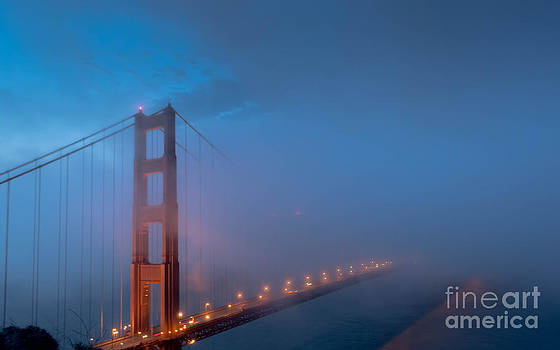 Golden Gate at Blue Hour by Along The Trail