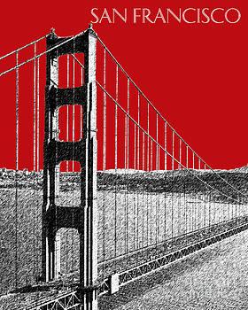 DB Artist - Golden gate Bridge - Dk Red