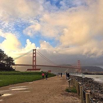 Golden Gate Bridge Amid The Clouds by Karen Winokan