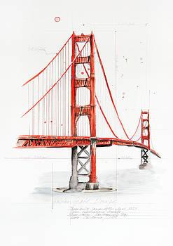 Golden Gate Bridge by Astrid Rieger