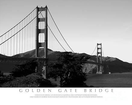Golden Gate Bridge at Sunset by Kimberly Blom-Roemer