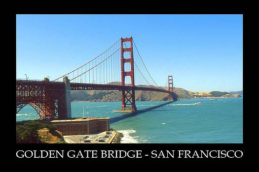 Art America Gallery Peter Potter - Golden Gate Bridge San Francisco Poster