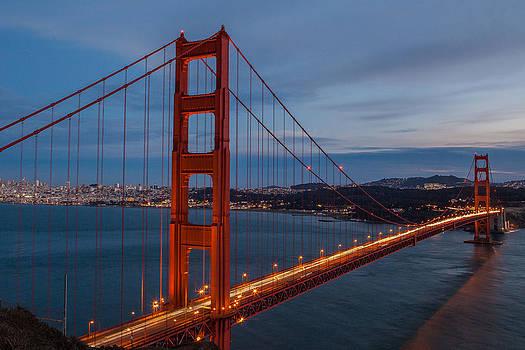 Golden Gate Glow by Matthew Riccio