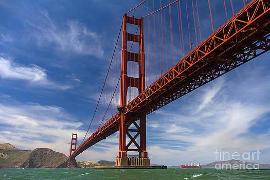 Golden Gate Postcard by Hugh Stickney