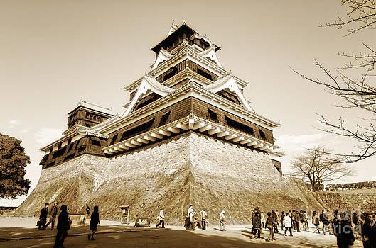 Golden Glow - Kumamoto Castle - Kyushu - Japan by David Hill